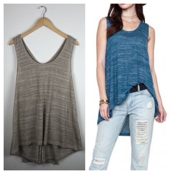Umgee High Low Moto Tank Top